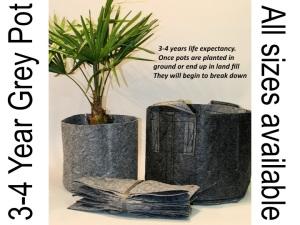 Root Pouches aus grauem, mittelstarkem Material, erhältlich in fast allen Größen