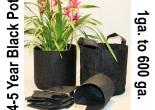 Root Pouch aus schwarzem Material, erhältlich von 4L bis 2400L